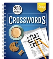 250 Puzzles Crosswords Easy (spiral bound) | Books