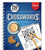 250 Puzzles Crosswords Hard (wire-bound) | Books