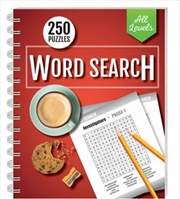 250 Puzzles Wordsearch All Levels (spiral bound) | Books