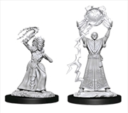 Dungeons & Dragons - Nolzur's Marvelous Unpainted Minis: Drow Mage & Drow Priestess | Games
