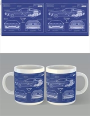 Back To The Future Blue Print | Merchandise