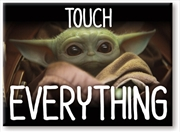 Star Wars: The Mandalorian- The Child Baby Yoda Touch Everything 2.5 x3.5 Flat Magnet | Merchandise