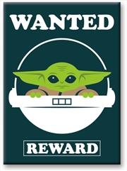 Star Wars: The Mandalorian- The Child Baby Yoda Wanted 2.5 x 3.5 FlatMagnet | Merchandise