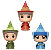 Sleeping Beauty - Fauna, Flora & Merryweather Fairies ECCC 2020 Exclusive Pop! Vinyl 3-pack [RS] | Pop Vinyl