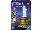 Ravensburger Statue of Liberty 3D Puzzle Night 108 Piece | Merchandise