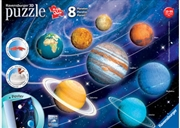 Solar System 8 Planets 3D Puzzle 522 Piece | Merchandise