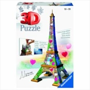 La Tour Eiffle Love Edition 3D Puzzle 216 Piece | Merchandise