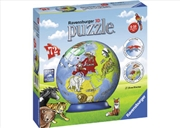 Ravensburger - Children's Globe Puzzleball 72 Piece 3D Puzzle | Merchandise