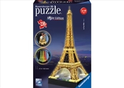Ravensburger Eiffel Tower at Night 3D Puzzle - 216 Pieces | Merchandise