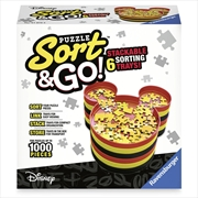 Ravensburger Disney Mickey's Sort & Go! Puzzle Sorter Trays Up to 1000 pieces | Merchandise