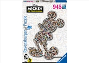 Disney Shaped Mickey 937 Piece Puzzle | Merchandise