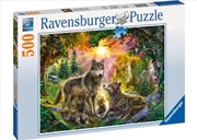 Ravensburger - Wolf Family in Sunshine Puzzle 500pc | Merchandise