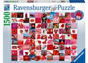 Ravensburger - 99 Beautiful Red Things Puzzle 1500 Piece Puzzle    | Merchandise