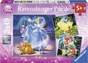 Ravensburger - Disney Snow White Cinderella & Ariel Puzzle 3x49 Piece | Merchandise