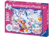 Ravensburger - Amazing Unicorns Glitter Puzzle 100pc | Merchandise