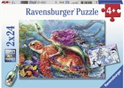 Ravensburger - Mermaid Adventures Puzzle 2x24p | Merchandise