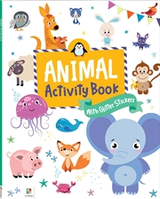 Animal Activity Book With Glitter Stickers | Paperback Book