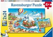 Ravensburger - Seaside Holiday 2x24 Piece Puzzle | Merchandise