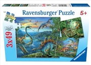 Ravensburger - Dinosaur Fascination Puzzle 3x49 Piece | Merchandise