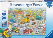 Ravensburger - Vehicles in the City 100 Piece Puzzle  | Merchandise