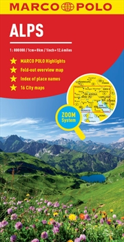 Alps Marco Polo Map | Sheet Map