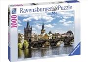Ravensburger - Prague: The Charles Bridge Puzzle 1000 Piece Puzzle   Merchandise