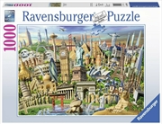 Ravensburger - World Landmarks Puzzle 1000pc | Merchandise