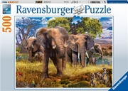 Elephant Family 500 Piece Puzzle | Merchandise