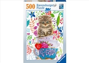 Kitten In A Cup 500 Piece Puzzle | Merchandise