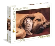 Cuddles: Dog And Kitten 500 Piece Puzzle | Merchandise