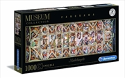 Michelangelo: Sistine Chapel Ceiling - 1000pc Panoramic Jigsaw Puzzle | Merchandise