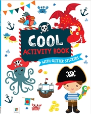 Cool Activity Book With Glitter Stickers | Books