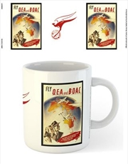 Qantas - Fly QEA by Constellation or Flying Boat Map C1950 | Merchandise
