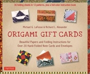 Origami Gift Cards Kit - Beautiful Papers and Folding Instructions for Over 20 Hand-Folded Note Card | Paperback Book