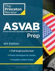 Princeton Review ASVAB Prep, 5th Edition 4 Practice Tests + Complete Content Review + Strategies & T | Paperback Book