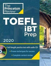 Princeton Review TOEFL iBT Prep with Audio CD, 2020 Practice Test + Audio CD + Strategies & Review | Paperback Book