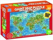 Around The World Giant Map 300pc | Merchandise
