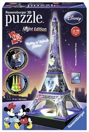 Mickey Minnie Eiffel Tower 3D Puzzle - 216 Piece | Merchandise