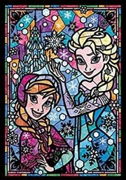 Tenyo Disney Frozen Anna & Elsa Stained Glass Puzzle 266 pieces | Merchandise