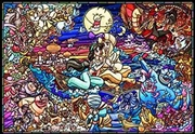 Aladdin Story Stained Glass - 1000 Piece Puzzle | Merchandise