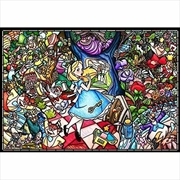 Alice In Wonderland Stained Glass 1000 Piece Puzzle | Merchandise