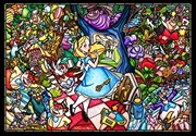 Alice In Wonderland Stained Glass 500 Piece Puzzle | Merchandise