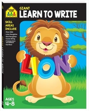 Giant Workbook Learn To Write | Paperback Book