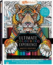Ultimate Colouring Experience Majestic Creatures Kit | Paperback Book