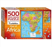 Africa Map 500 Piece Puzzle | Merchandise
