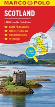 Scotland / Northern England Marco Polo Map | Sheet Map