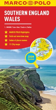 Southern England and Wales Marco Polo Map | Sheet Map