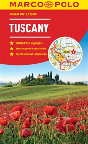 Tuscany Marco Polo Holiday Map pocket size, easy fold | Sheet Map