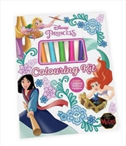 Disney Princess : Colouring Kit | Hardback Book