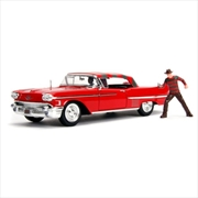 A Nightmare on Elm St - 1958 Cadillac Series 62 1:24 with Figure Hollywood Ride | Merchandise